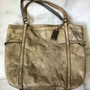 COACH B1173-17065 Audrey Ivory Andie Cinched Tote